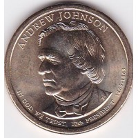 "США 1 доллар 2011 года "" Andrew Johnson"" (Эндрю Джонсон) 17-ый президент двор P"